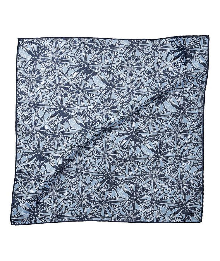 Jacquard Cotton-Silk Pocket Square image 0