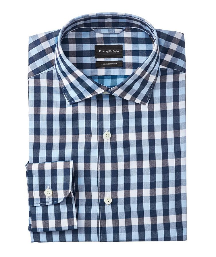 Slim-Fit Gingham Cotton Shirt image 0