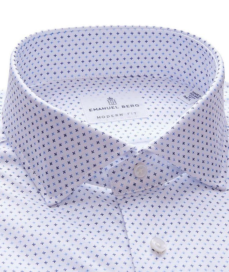 Byron Neat Print 4-Flex Stretch-Cotton Performance Shirt image 1