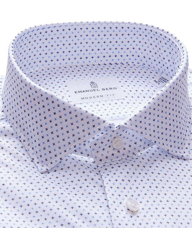 Byron Neat Print 4-Flex Stretch-Cotton Performance Shirt picture 2