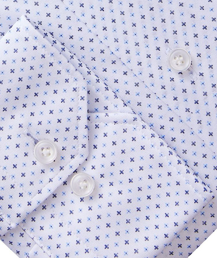 Byron Neat Print 4-Flex Stretch-Cotton Performance Shirt image 2