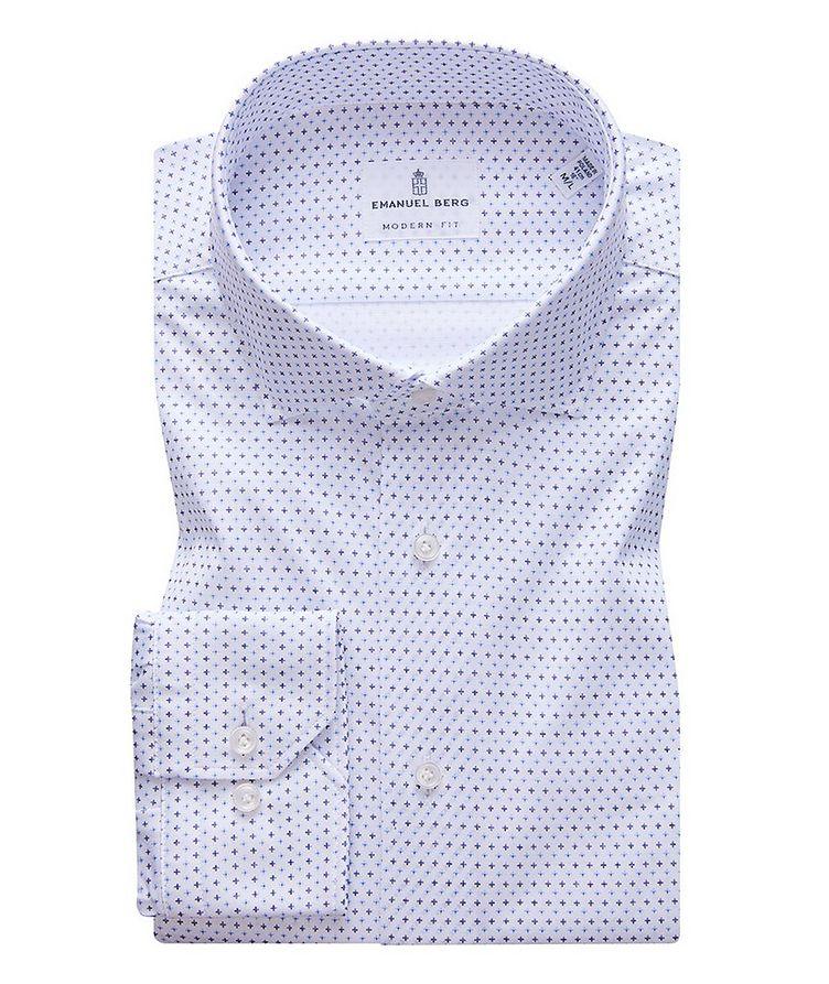 Byron Neat Print 4-Flex Stretch-Cotton Performance Shirt image 0