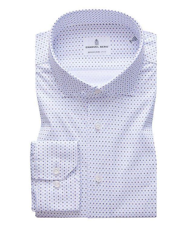 Byron Neat Print 4-Flex Stretch-Cotton Performance Shirt picture 1