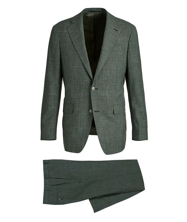 Slim-Fit Wool, Silk, and Linen Suit picture 1