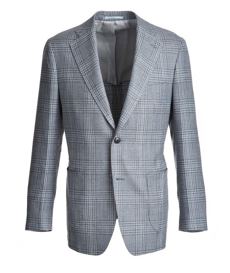 Plaid Wool-Silk-Linen Sport Jacket image 0