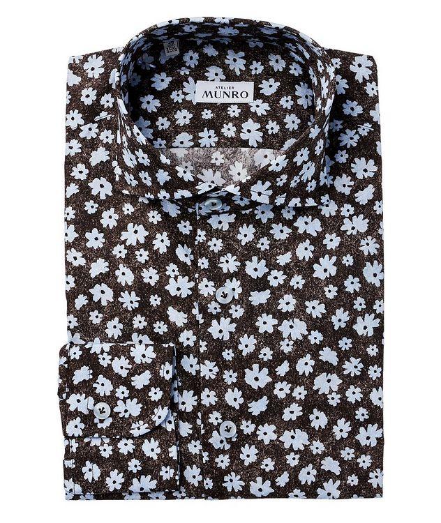 Slim Fit Floral Dress Shirt picture 1