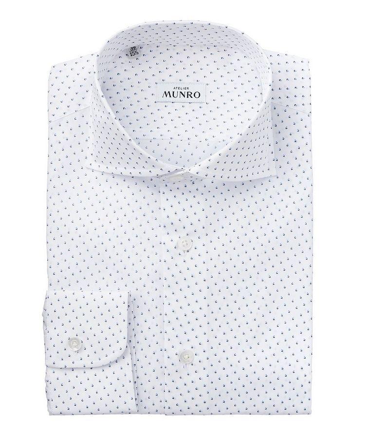 Dotted Floral Cotton Dress Shirt image 0
