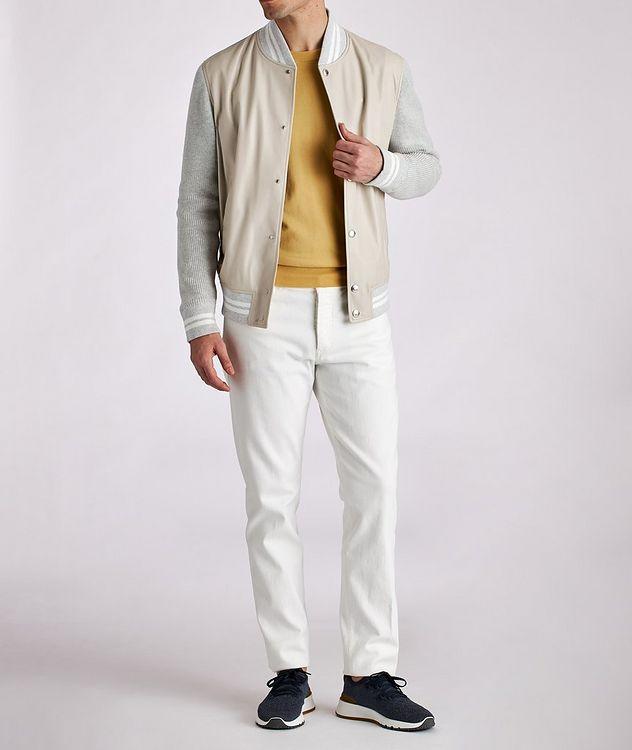 Blouson court en cuir et tricot picture 5