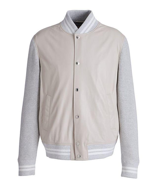 Blouson court en cuir et tricot picture 1
