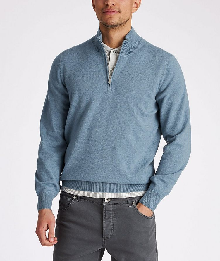 Half-Zip Cashmere Sweater image 1