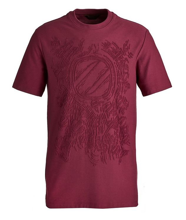 Couture Flocked Cotton-Blend T-Shirt picture 1
