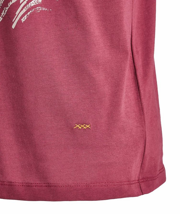 Couture Embroidered Cotton T-Shirt image 1