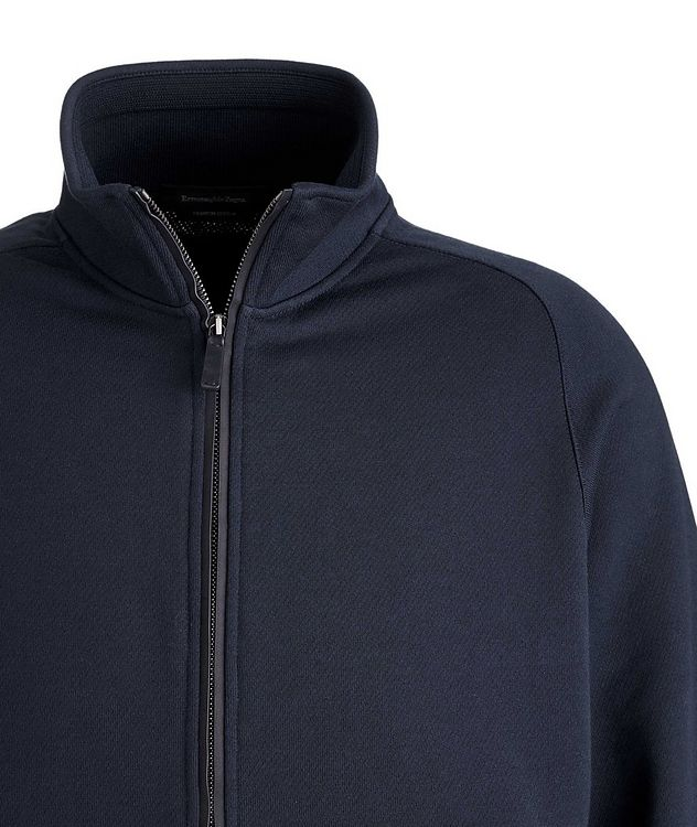 Cotton Zip-Up Sweater picture 3