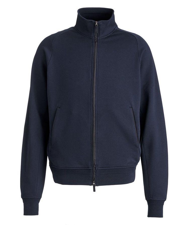 Cotton Zip-Up Sweater image 0