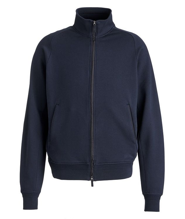 Cotton Zip-Up Sweater picture 1