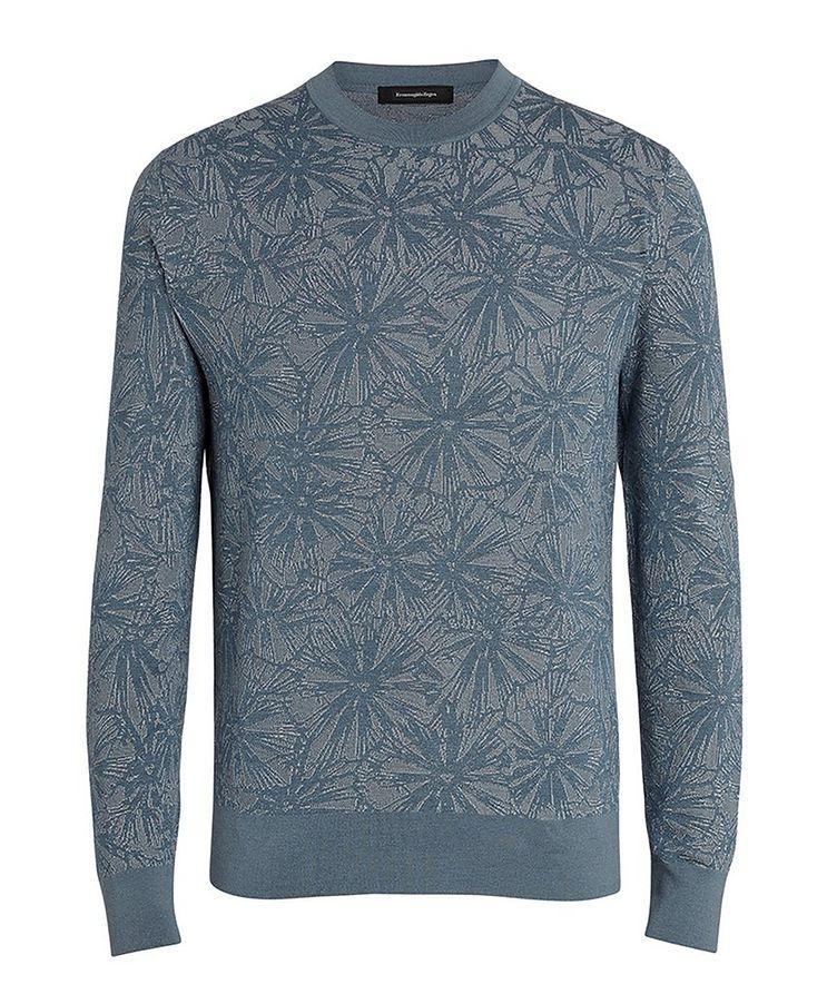 Floral Jacquard Silk-Wool-Cotton Sweater image 0