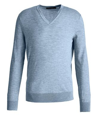 Ermenegildo Zegna Cashseta Light Cashmere-Silk V-Neck Sweater
