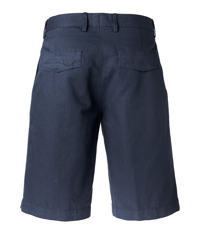 Cotton Linen Summer Chino Shorts   picture 2