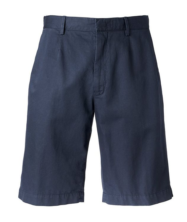 Cotton Linen Summer Chino Shorts   picture 1