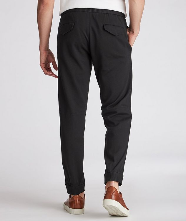 Cotton-Silk Jersey Drawstring Joggers picture 3