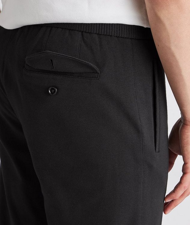 Cotton-Silk Jersey Drawstring Joggers picture 4