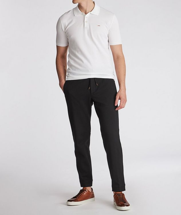 Cotton-Silk Jersey Drawstring Joggers picture 5