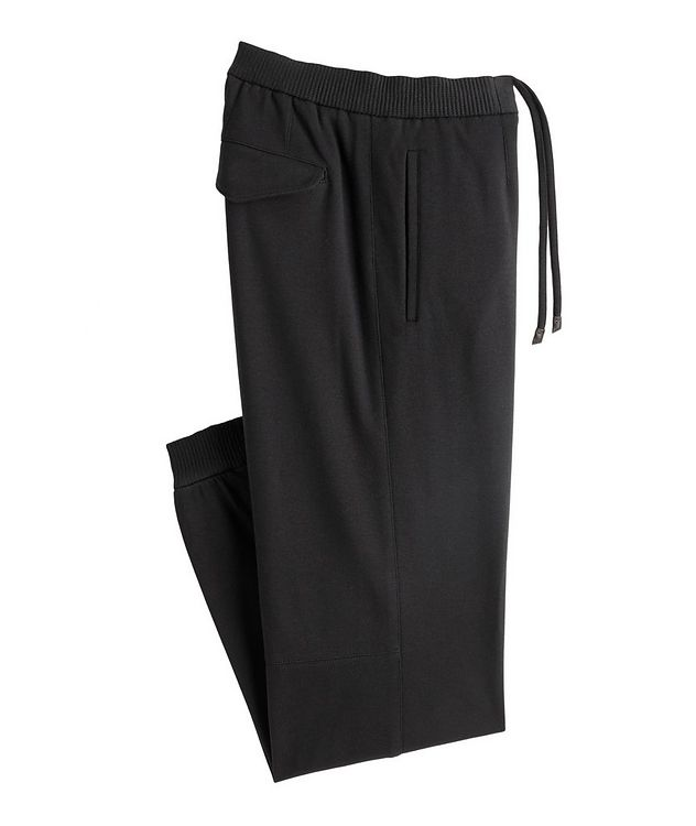 Cotton-Silk Jersey Drawstring Joggers picture 1