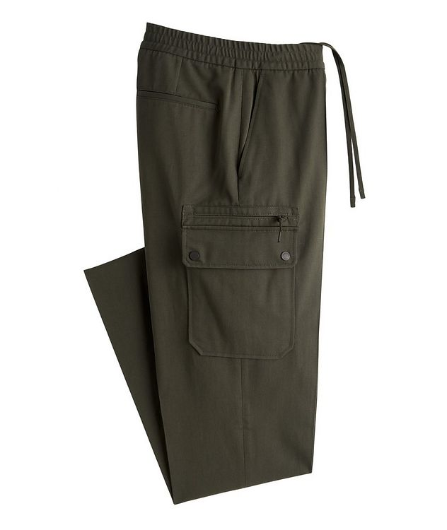 Cotton-Linen Cargo Joggers picture 1