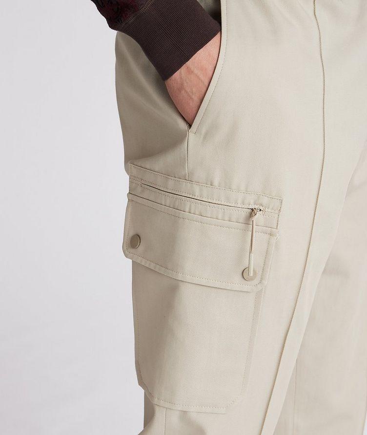 Pantalon sport en coton et lin à poches cargo et à cordon image 3