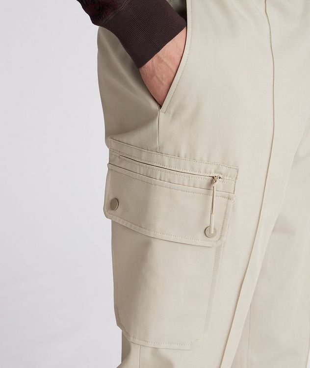 Drawstring Cotton-Linen Cargo Joggers picture 4