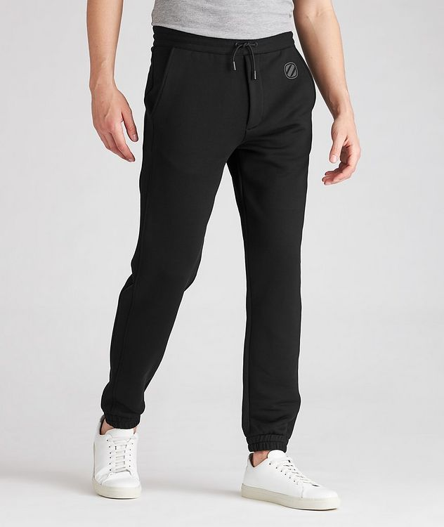 Stretch-Cotton Couture Drawstring Joggers picture 2