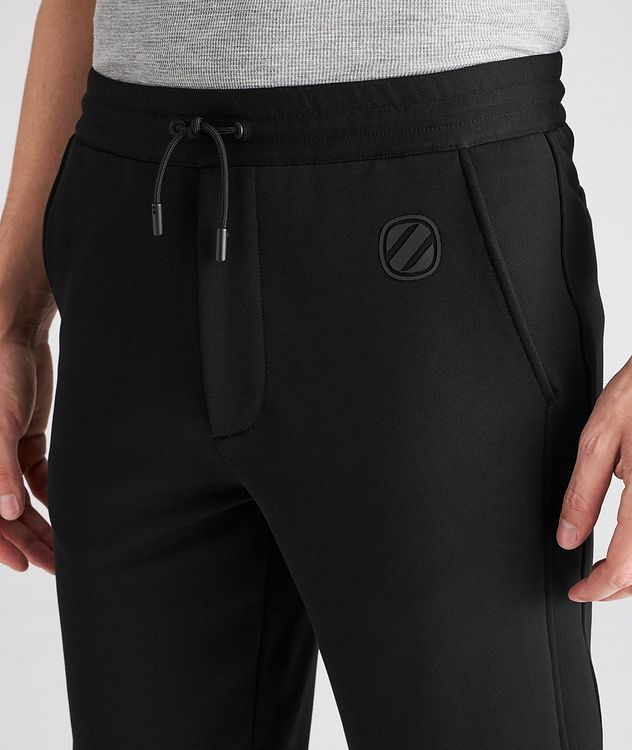 Stretch-Cotton Couture Drawstring Joggers picture 4