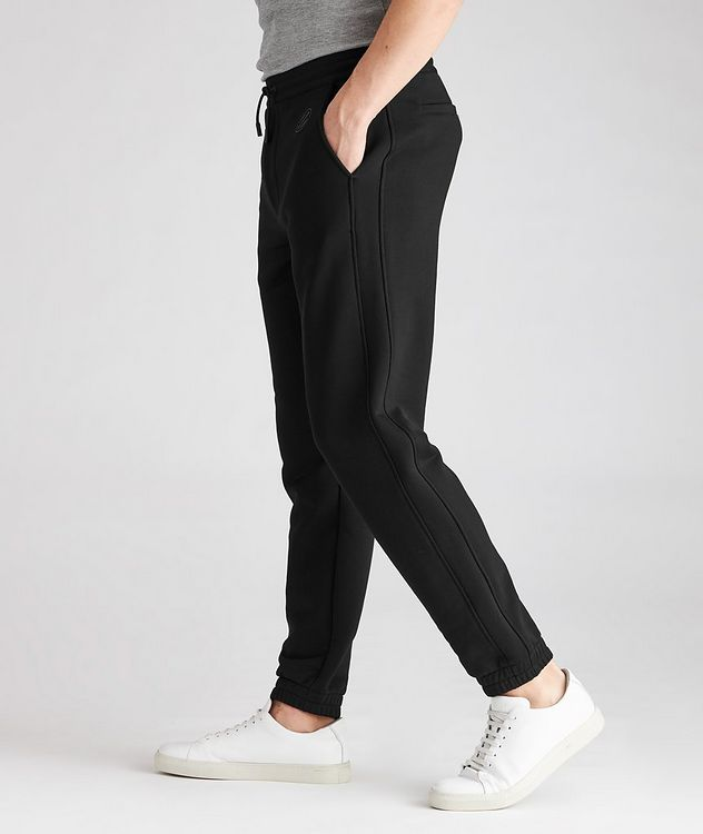 Stretch-Cotton Couture Drawstring Joggers picture 5