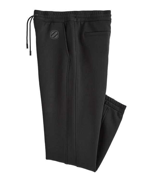 Stretch-Cotton Couture Drawstring Joggers picture 1