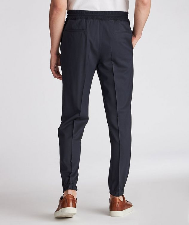 Pleated Wool Drawstring Joggers picture 3