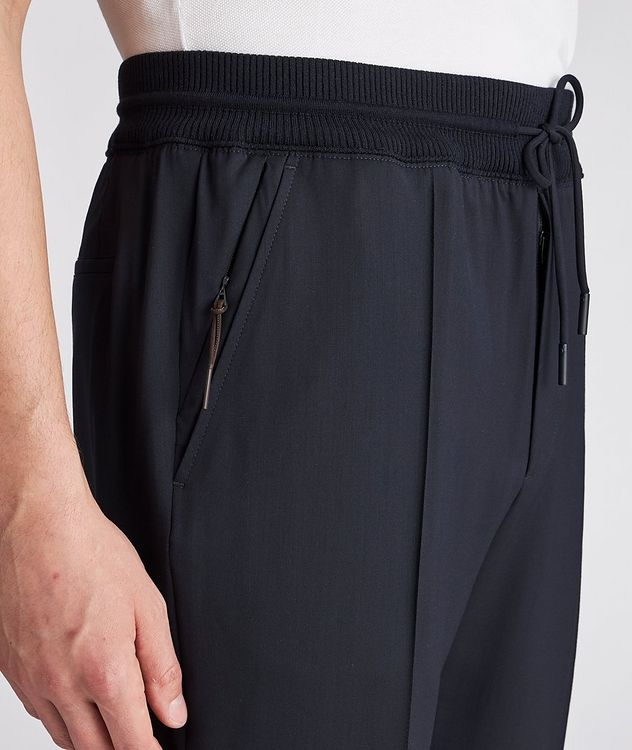 Pleated Wool Drawstring Joggers picture 4