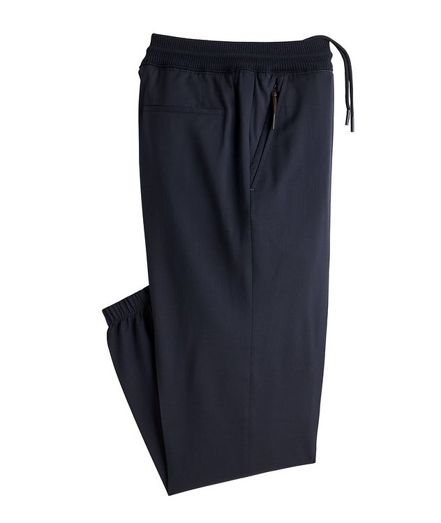 Pleated Wool Drawstring Joggers picture 1
