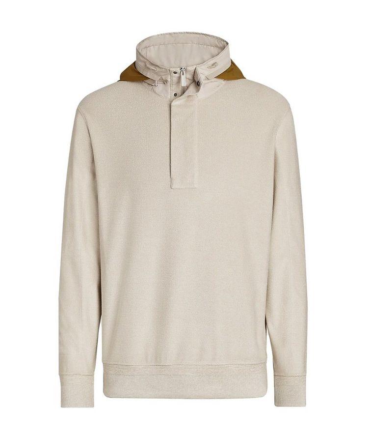 Cotton Silk Half-zipped Hoodie image 0