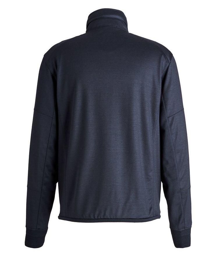 High Performance Hooded Stretch-Wool Sweatshirt image 1