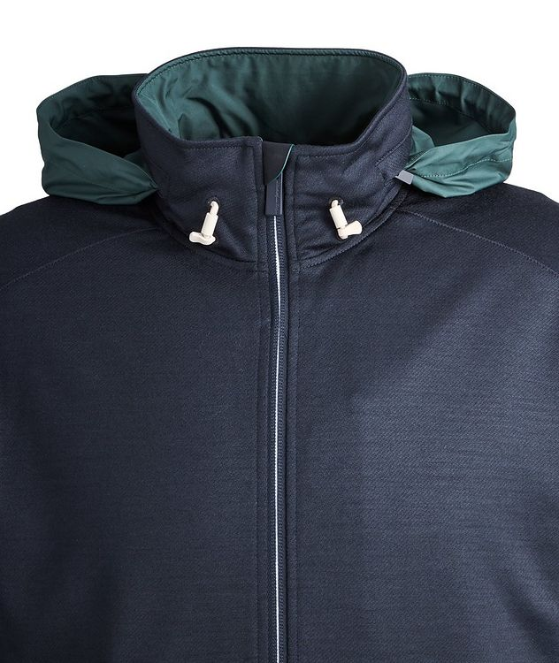 High Performance Hooded Stretch-Wool Sweatshirt picture 3