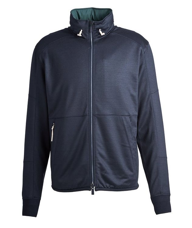 High Performance Hooded Stretch-Wool Sweatshirt picture 1