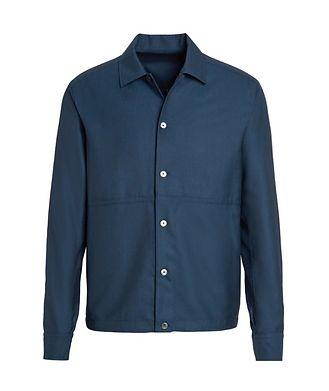 Ermenegildo Zegna Achillfarm Wool-Silk Blouson Sports Jacket