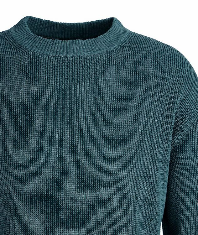 Waffle Knit Silk-Flax Sweater picture 2