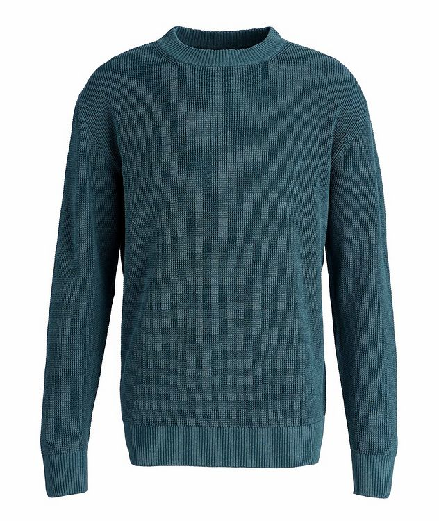 Waffle Knit Silk-Flax Sweater picture 1