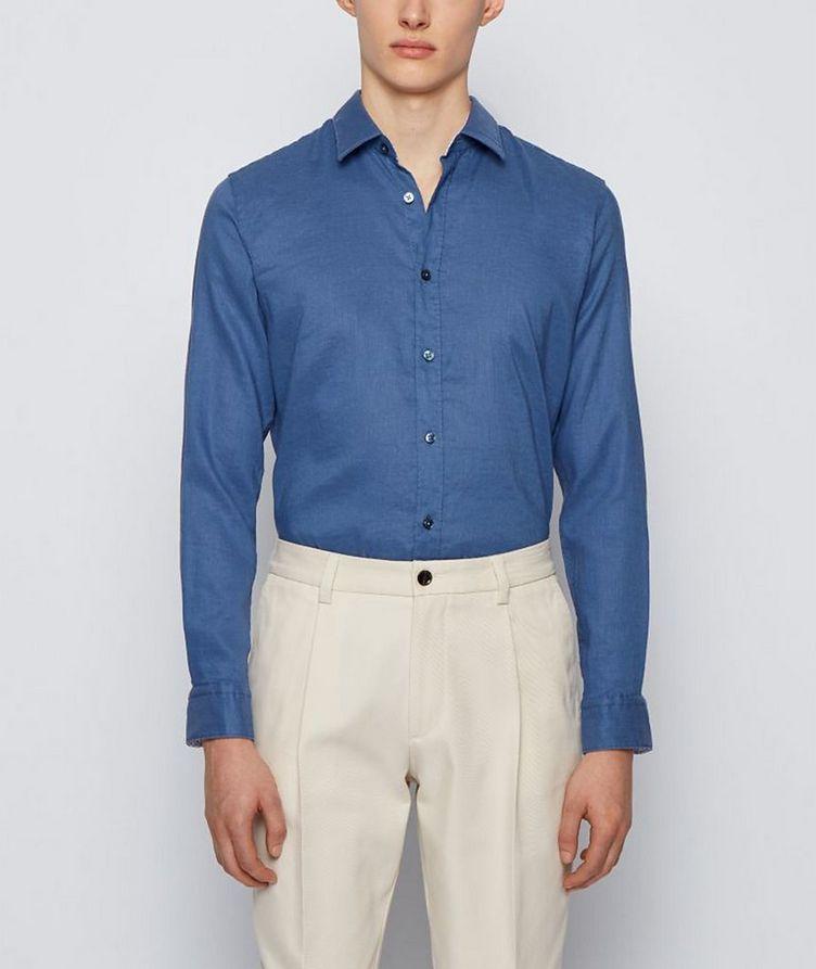 Slim-Fit Stretch-Linen Shirt image 1