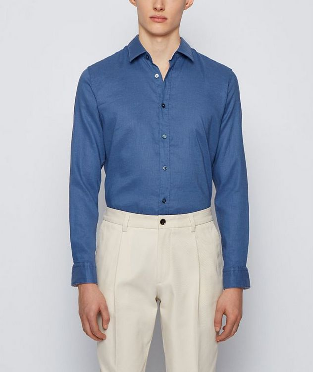 Slim-Fit Stretch-Linen Shirt picture 2