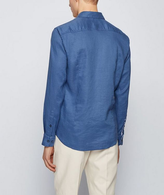 Slim-Fit Stretch-Linen Shirt picture 3