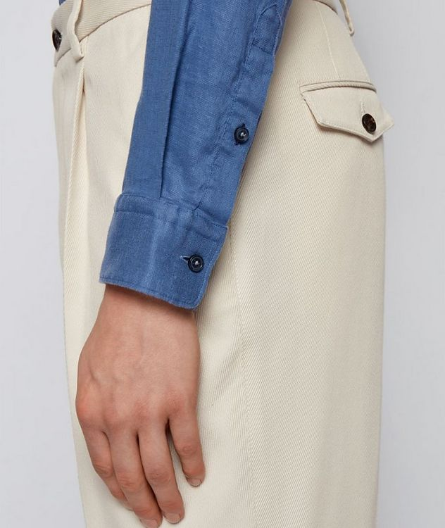 Slim-Fit Stretch-Linen Shirt picture 4