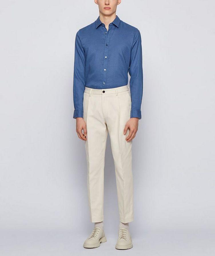 Slim-Fit Stretch-Linen Shirt image 4