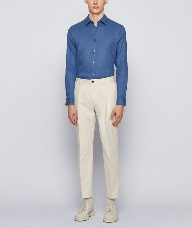 Slim-Fit Stretch-Linen Shirt picture 5